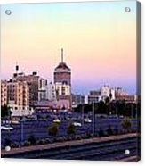 Fresno Skyline Into The Evening Acrylic Print