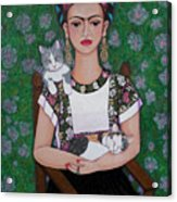 Frida Cat Lover  Acrylic Print