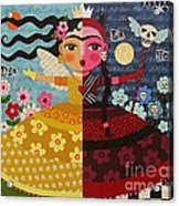 Frida Kahlo Angel Devil Queen Acrylic Print