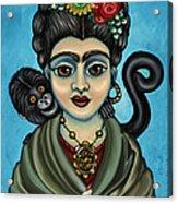 Frida's Monkey Acrylic Print