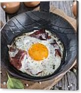 Fried Egg In A Pan Acrylic Print