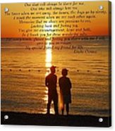 Friend For Life Poem Acrylic Print