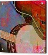 Friends Again Digital Banjo And Guitar Art By Steven Langston Acrylic Print