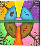 Friends In The Earth Mandala Acrylic Print