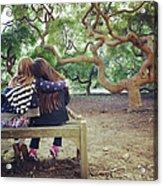 Friends Under Tree Canopy Acrylic Print