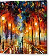 Friendship - Palette Knife Oil Painting On Canvas By Leonid Afremov Acrylic Print