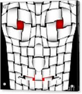Frightening Mask Acrylic Print