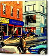 Friperie St.laurent Clothing Variety Dress Shop Downtown Corner Store City Scene Montreal Art Acrylic Print