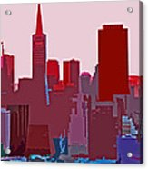 Frisco Skyline Acrylic Print