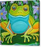 Frog On A Lily Pad Acrylic Print