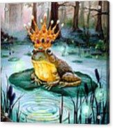 Frog Prince Acrylic Print by Heather Calderon