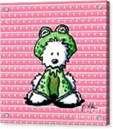 Frog Prince Westie Dog Acrylic Print