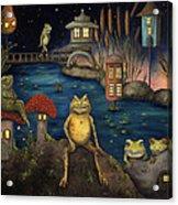 Frogland Acrylic Print by Leah Saulnier The Painting Maniac