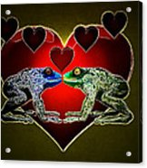 Frogs In Love Acrylic Print