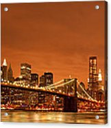 From Brooklyn To Manhattan Acrylic Print by Andreas Freund