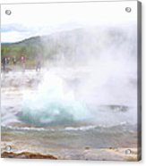 There Is Always Water Boiling Deep Inside The Ground  Acrylic Print