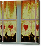 From French Riviera Window With Love Acrylic Print