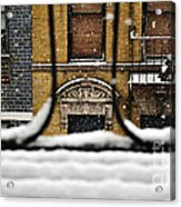 From My Fire Escape - Arches In The Snow Acrylic Print