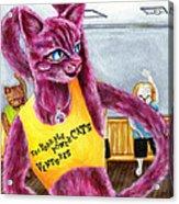 From Purple Cat Illustration 15 Acrylic Print