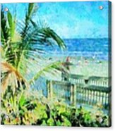 From The Boardwalk Acrylic Print