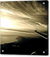 From The Plane Acrylic Print by Gwyn Newcombe