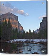 From Valley View At Sunset Acrylic Print