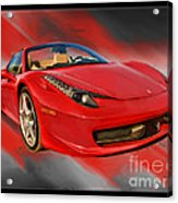 Front 2012 458 Spider  Acrylic Print