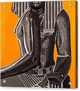 Front And Side Egyptian Pharoah Acrylic Print