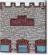 Front Of Calumet Hotel-1887  In Pipestone-minnesota Acrylic Print