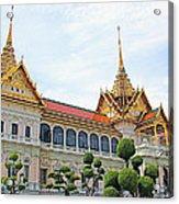 Front Of Reception Hall At Grand Palace Of Thailand In Bangkok Acrylic Print