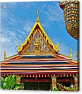 Front Of Royal Temple At Grand Palace Of Thailand In Bangkok Acrylic Print