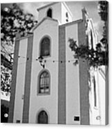 front of the church in Los Banquitos Tenerife Canary Islands Spain Acrylic Print