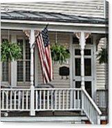 Front Porch Flag Acrylic Print