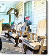 Front Porch On An Old Country House 2 Acrylic Print