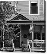 Front Porch Usa Black And White Acrylic Print