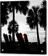Front Row For Sunset Acrylic Print