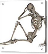 Front View Of A Human Skeleton Posing Acrylic Print