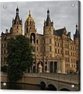 Front View Of Palace Schwerin Acrylic Print