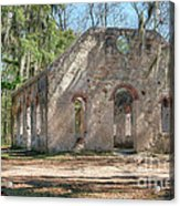 Front View Of The Chapel Of Ease Acrylic Print