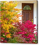 Front Yard Autumn Decor, Quincy California Acrylic Print