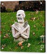 Front Yard Halloween Graveyard Acrylic Print by Amy Cicconi