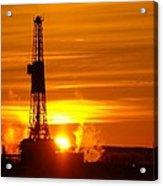 Frontier Nineteen Xto Energy Culbertson Montana Acrylic Print