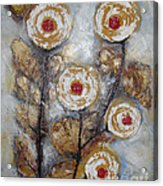 Frosen Roses Acrylic Print by Elena  Constantinescu