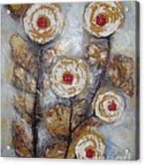 Frosen Roses Acrylic Print