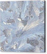 Frost Crystal On Window Acrylic Print
