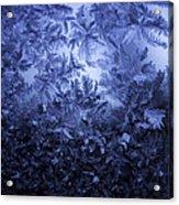 Frost on window #3 Acrylic Print