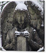 Frosted Stone Angel Acrylic Print