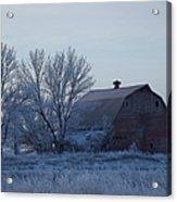 Frosty Barn Acrylic Print