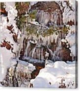 Frosty Cascades Acrylic Print
