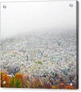 Frosty Fall Acrylic Print
